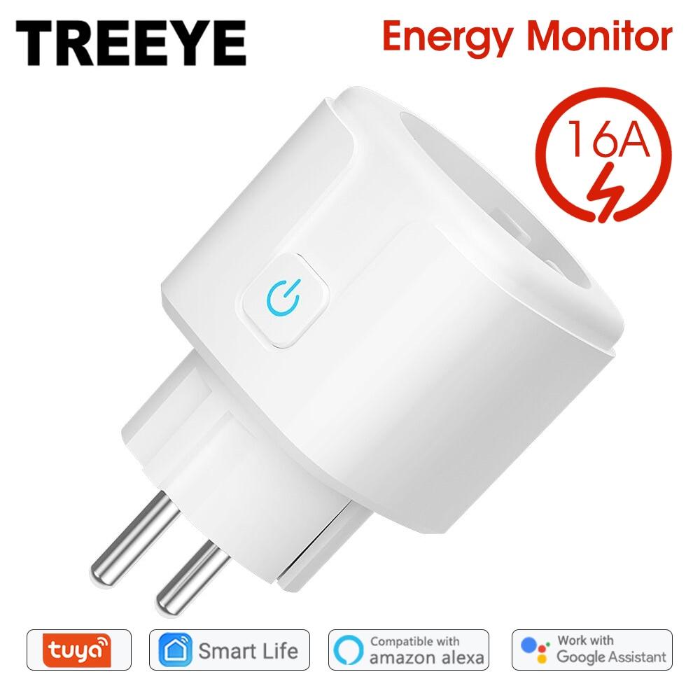 WiFi Smart Plug 16A EU UNS Buchse Tuya Smart Leben APP Arbeit mit Alexa Google Home Assistent Voice Control Power monitor Timing