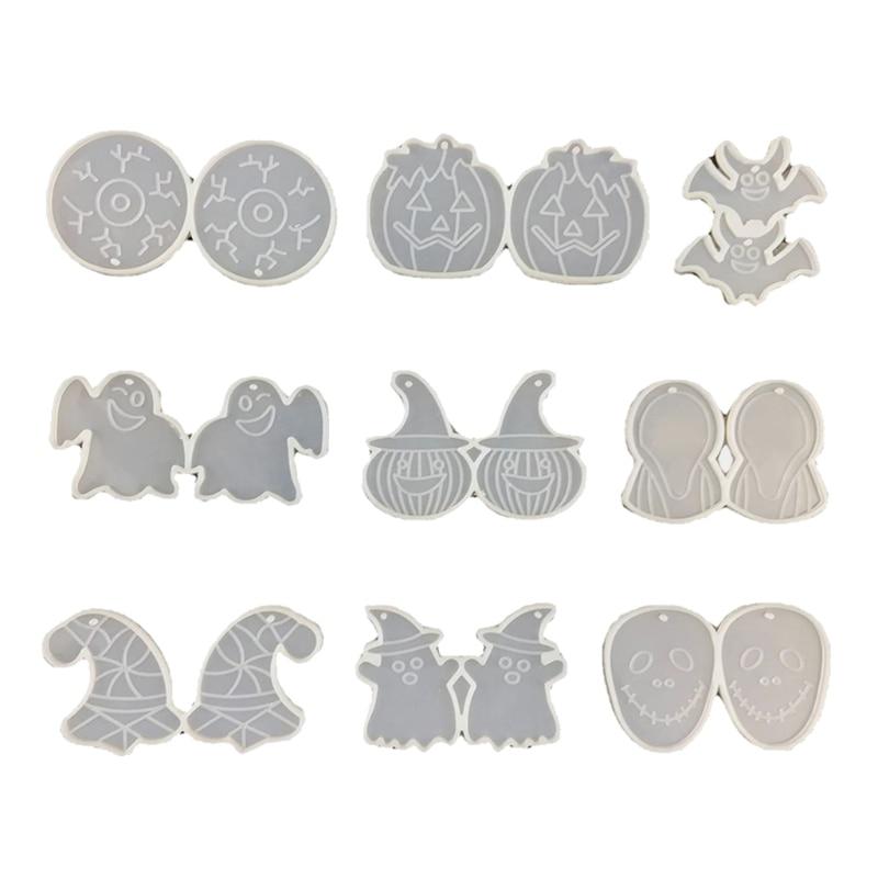 72XE الراتنج قوالب مناسبة للمجوهرات راتينج السليكون قوالب المجوهرات بما في ذلك أقراط المعلقات أساور القلائد قوالب
