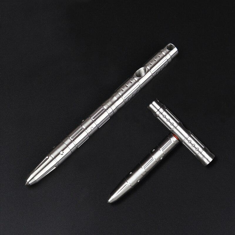 متعددة الوظائف الفولاذ المقاوم للصدأ متغير T شكل القلم مطرقة طوارئ الدفاع عن النفس تكتيكات EDC في الهواء الطلق التكتيكية الكتابة القلم