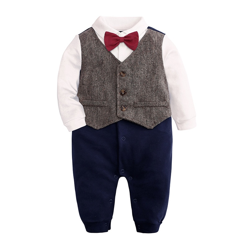 Hooyi Boys Clothes Formal smoking Jumpsuit peleles de caballero Infant Vest pajaritas DE BODA ceremonia trajes chicos camisas de alta calidad