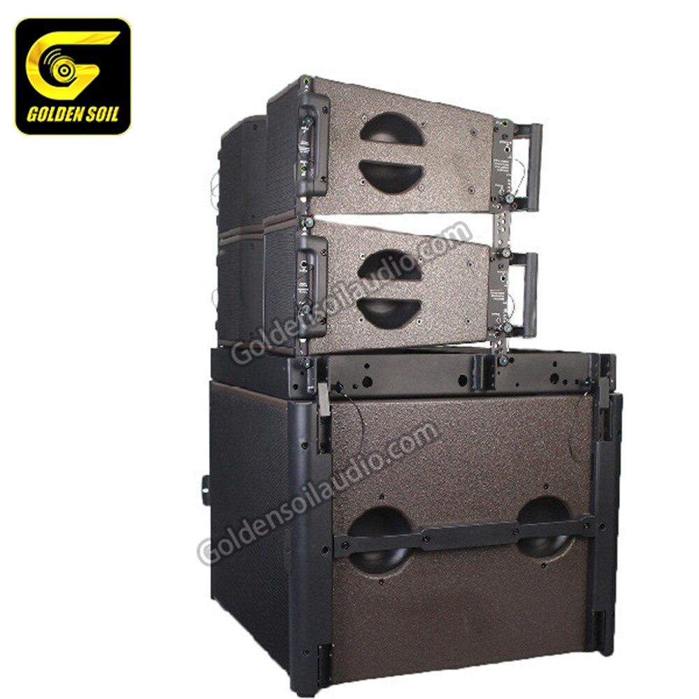 Altavoces de línea de audio Goldensoil, altavoces KARA de doble gama de 8 pulgadas, audio, sistema de sonido KARA & SB18