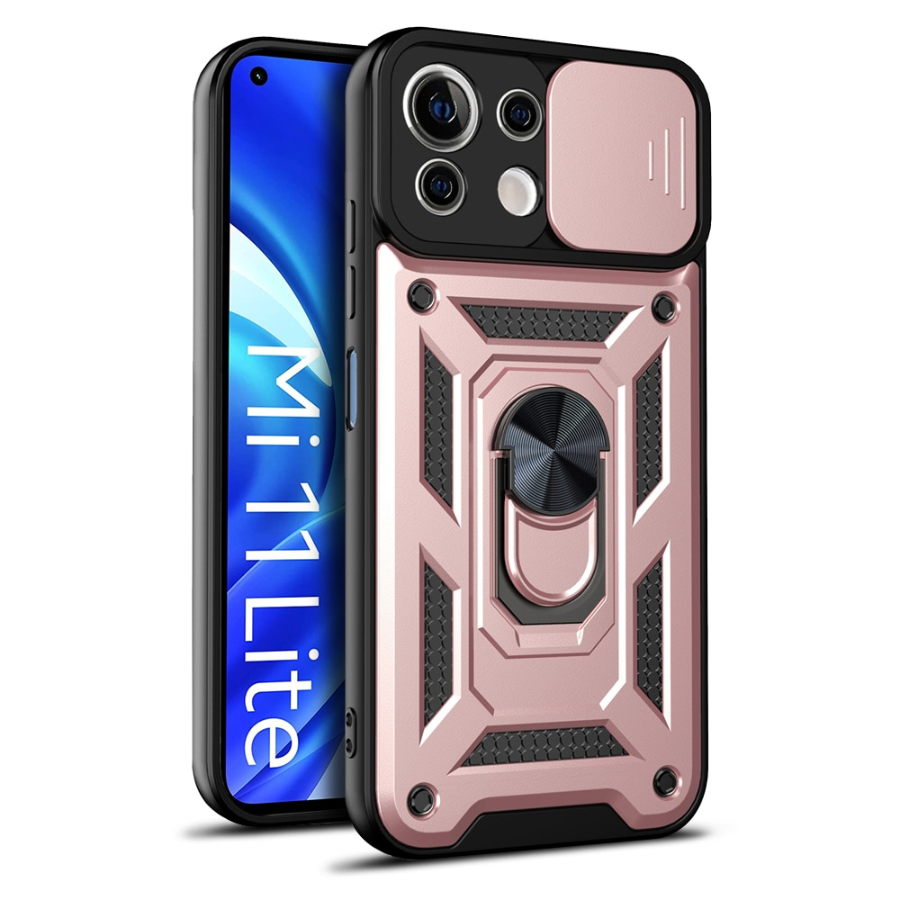 Push Window Fashion Shockproof Phone Case For Xiaomi 11 LITE 4G 5G 11X PRO MIX 4 With Ring Stand Ant