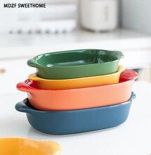 MDZF 475/1050ml plat de cuisson de couleur bonbon rectangulaire Au Gratin plats rôtissage lasagne casserole plaque de cuisson cuisine outil de cuisson