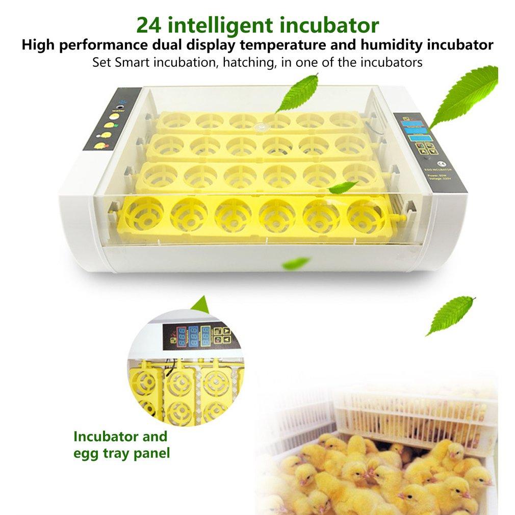 Инкубатор для яиц автоматический инкубатор задумчивый машина инкубатор для цыплят дома инкубатор контроллер фермы инкубатор для яиц 24 инк...