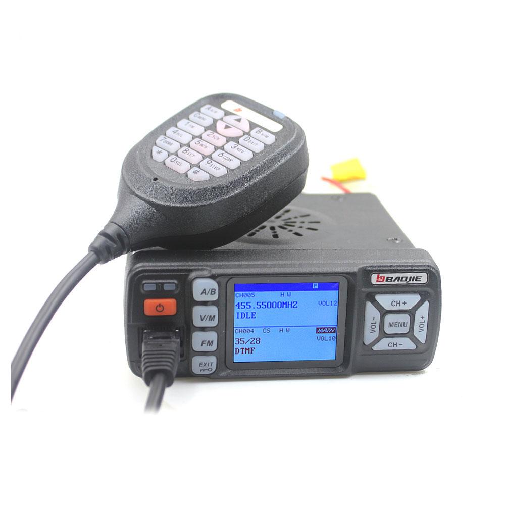 Walkie Talkie BJ-318 25W Dual Band 136-174&400-490MHz Car FM Radio BJ318 (upgrade version of BJ-218) enlarge
