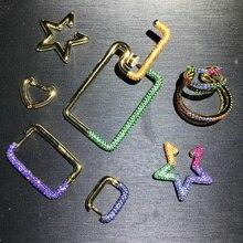 100% S925 sterling silver nuovo sette-colore a forma di stella di clip orecchio singolo multi-strato di temperamento di stile di tendenza signore gioielli in argento