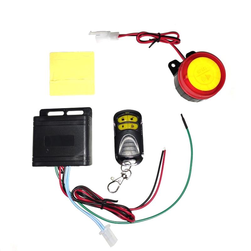 12V Motorcycle Security Burglar Alarm System Scooter Motor Bike Anti-theft Alarm125db With Engine Start Remote Control Key Shell