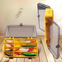 double sided fishing accessories storage box portable outdoor fishing tackle lure bait box fish hook box