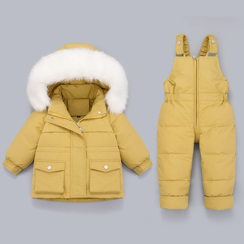 Winter Snowsuit Girl Children's Down Jacket Thick Warm Winter Kids Jumpsuit Toddler Girl Clothes Set 1-5Y Baby Outfits Set enlarge