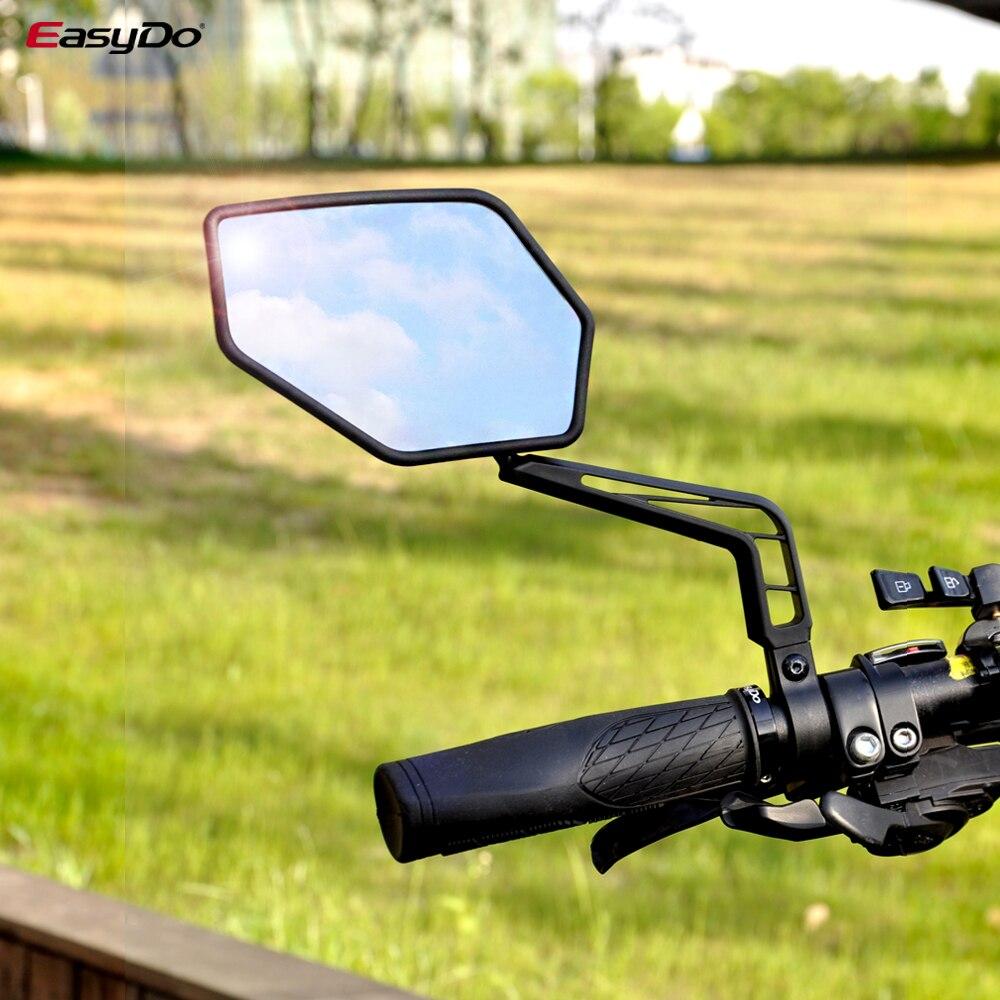 EasyDo-Manillar de bicicleta, 2 uds., amplio ángulo, espejo retrovisor ajustable, manillar de seguridad lateral Flexible, espejos retrovisores