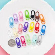 20 pièces porte-clés coloré anneau métal homard fermoir Clips sac voiture porte-clés diybijoux accessoires clé crochets crochet résultats de Base