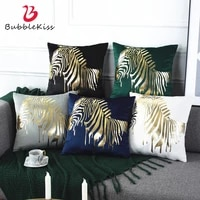 bubble kiss bronzing pillow case nordic light luxury cushion cover bedside decor yarn dyed zebra pattern throw pillow cover