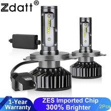 Zdatt H7 LED lamba H4 LED H8 H9 H11 buz lamba H27 880 araba ışık 9005 HB3 LED farlar 12000LM 100W 6000K 12V otomobiller için lamba