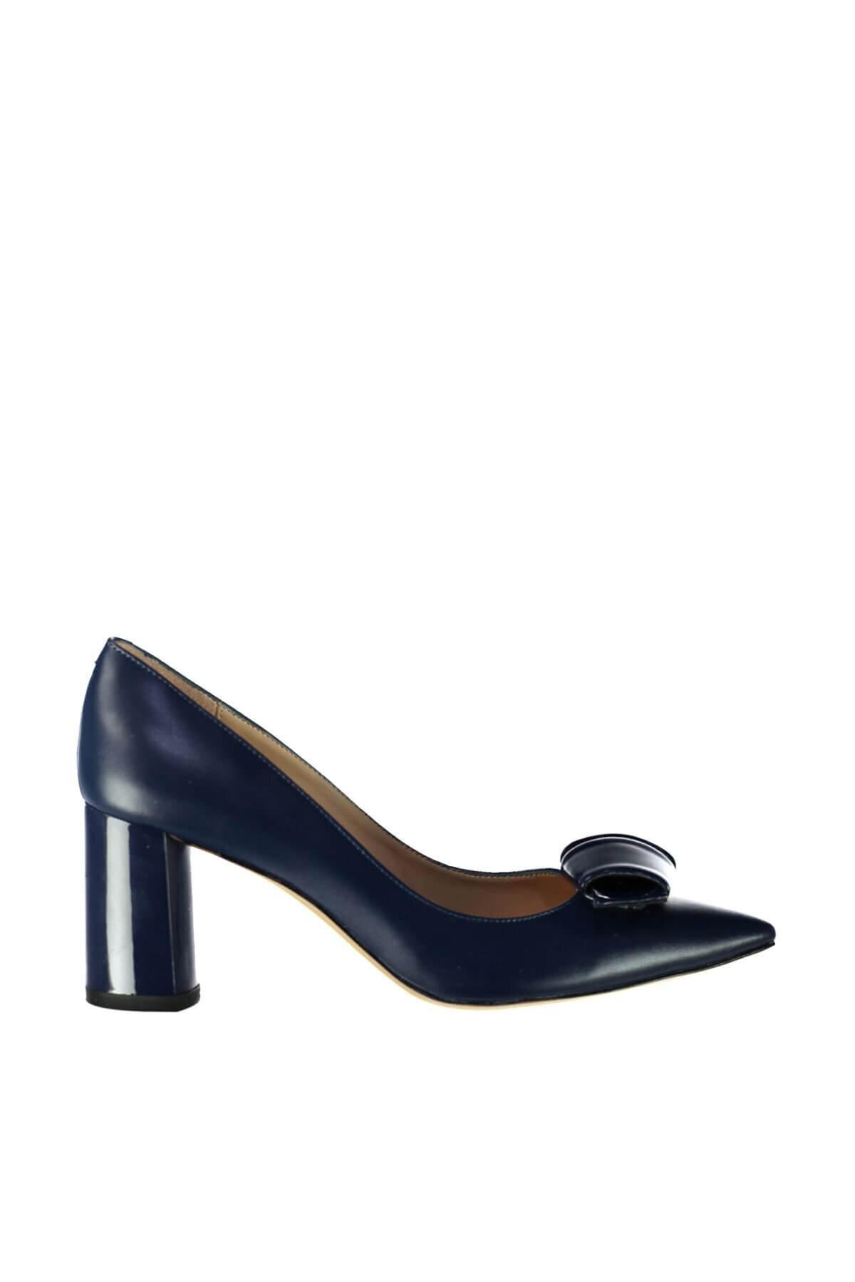 Pearl Dark Blue Women 'S High-Heeled Shoes 120130003686