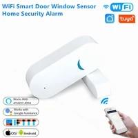 Detecteur douverture de porte fenetre intelligent  wi-fi  detecteur dalarme de securite pour la maison  telecommande sans fil  fonctionne avec Alexa et Google Home Smart Life