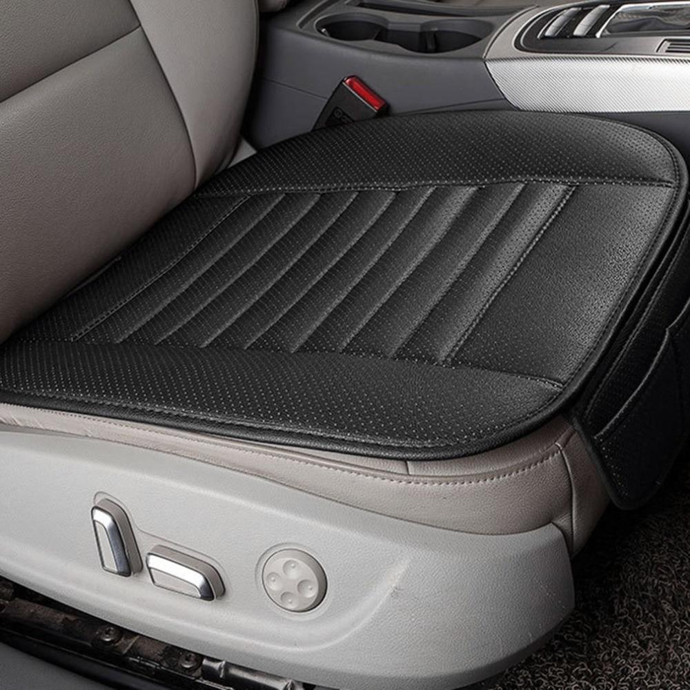 4 colores Car Styling bambú carbón cubierta de asiento de coche transpirable cubierta Interior de asiento de coche Pad Backless Seat Cushion For Four Seasons