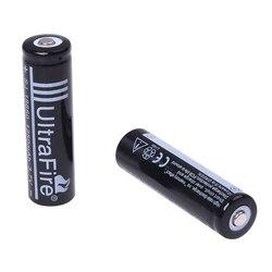 Bateria preta recarregável nova do lítio de 2 pces 18650 3.7 v 1250 mah