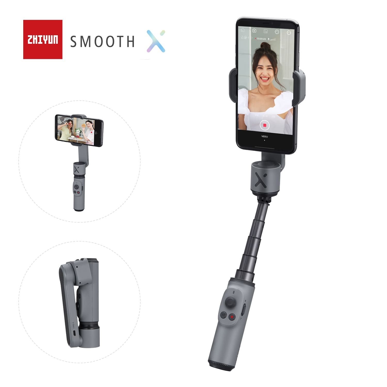 ZHIYUN SMOOTH X الرسمية السلس يده الهاتف Gimbals Selfie عصا استقرار Palo الهواتف الذكية آيفون شاومي هواوي Redmi سامسونج