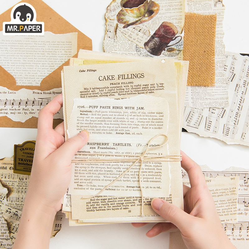 Mr.paper 2 Designs 57pcs Ancient Vintage Letters Scrapbooking/Card Making/Journaling Project DIY Kraft Retro Writing paper Cards