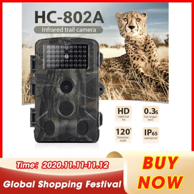 Hc802a caça câmera gsm 16mp 1080p foto armadilhas visão noturna animais selvagens infravermelhos caça trail câmeras caça caméra de chasse