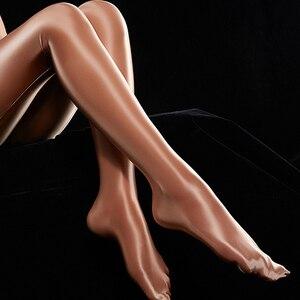 Sexy Shiny Glossy Oil Women Skinny Glossy Legs Tights Seamless Pantyhose Stockings Nylon Super Elastic Silk Hosiery