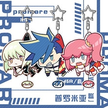 Anime PROMARE Aina Ardebit  Galo Thymos Lio Fotia Cosplay Cartoon Acrylic Figure Keychain Card Case Badge Pendant Xmas Gift