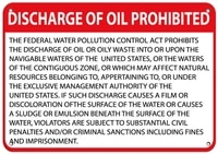 discharge of oil prohibited hazard sign waste signs label vinyl decal sticker kit osha safety label compliance signs 8