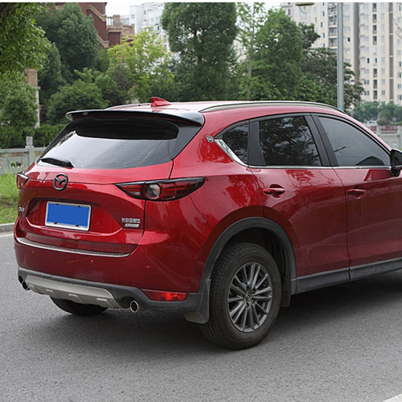 ABS plastic color rear roof spoiler tail luggage wing wing accessories for Mazda CX-5 CX5 2017 2018