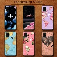 luxury world map travel phone case for samsung a91 01 10s 11 20 21 31 40 50 70 71 80 a2 core a10