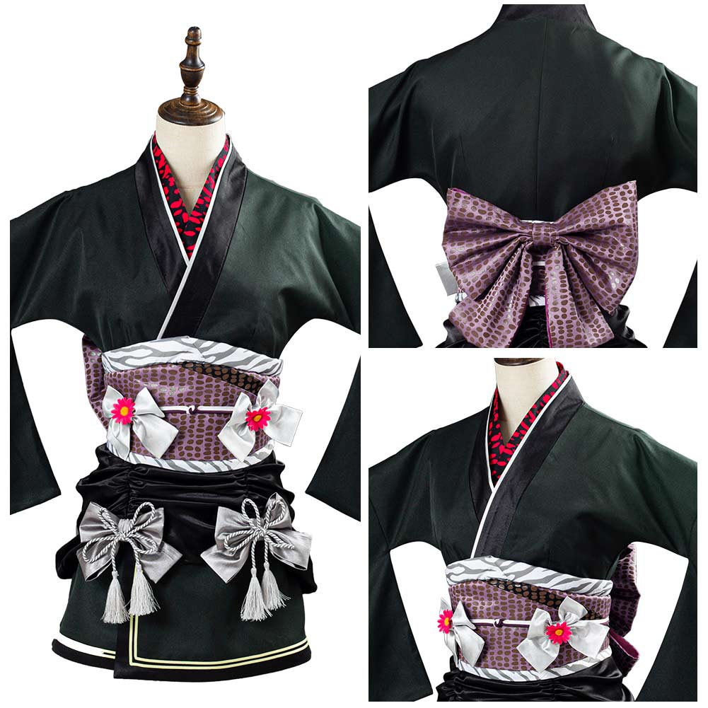 FF Tifa Lockhart vestido Final Fantasy 7 Remake exótico Kimono the Honeybee Inn vestido de fiesta