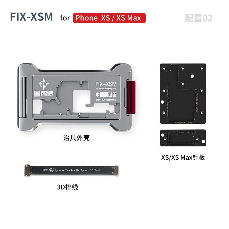XINZHIZAO لوحة اختبار طبقات الإطار آيفون X XS ماكس 11 11PRO PROMAX 12 المستوى الأوسط المنطق مجلس وظيفة iSocket
