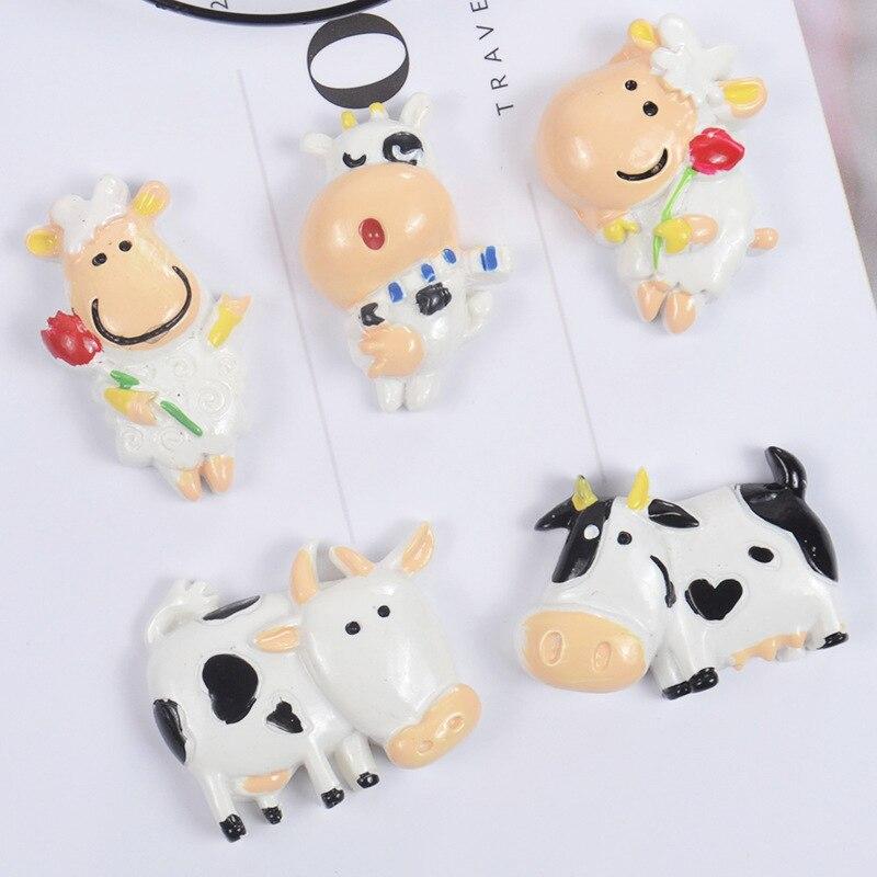 Al por mayor de la resina de dibujos animados vaca Material de bricolaje accesorios para Slime encantos de arcilla polimérica de plastilina herramienta suministros juguetes para los niños