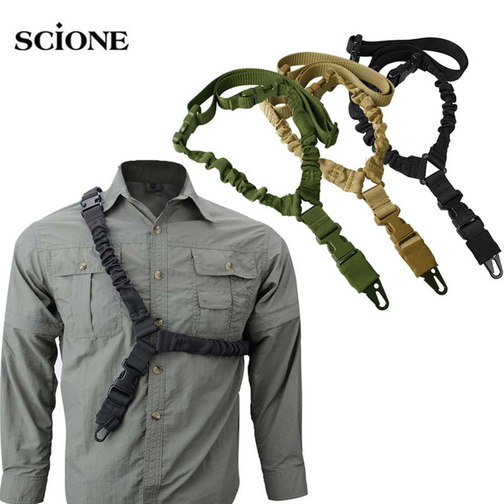 Ajustable táctico pistola Sling cinturón único punto 1000D pesados montaje Bungee Rifle militar Kit de cabestrillo Airsoft Correa XA209A