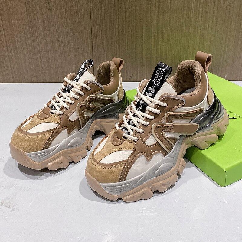Zapatillas De deporte vulcanizadas para Mujer, zapatos informales De suela gruesa con...