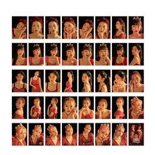 40 pièces/ensemble KPOP haute qualité velours rouge filles Album HD carte Photo PVC cartes auto-fait LOMO carte Photocard