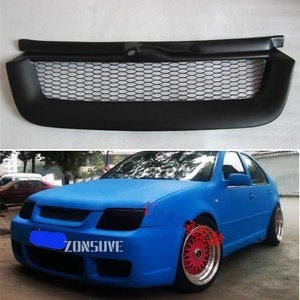 Use For Volkswagen Bora 1999-2005 Year Carbon Fibre Refitt Front Center Racing Grille Cover Accessorie Body Kit Zonsuve