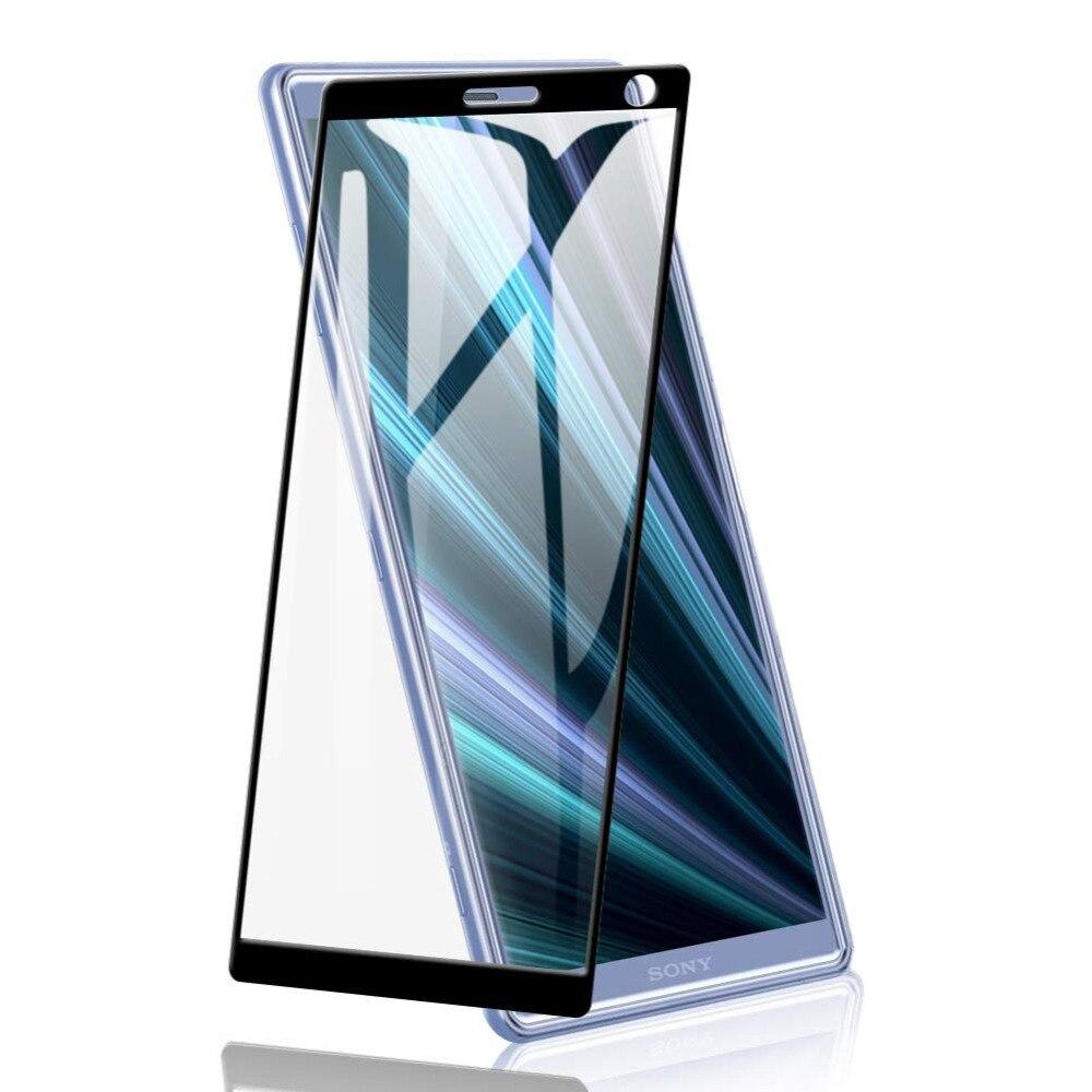 Vidrio templado de cubierta completa 9D para SONY Xperia 1 5 10 plus L3 Protector de pantalla para SONY X1 XZ4 X5 XZ5 X10 plus película protectora