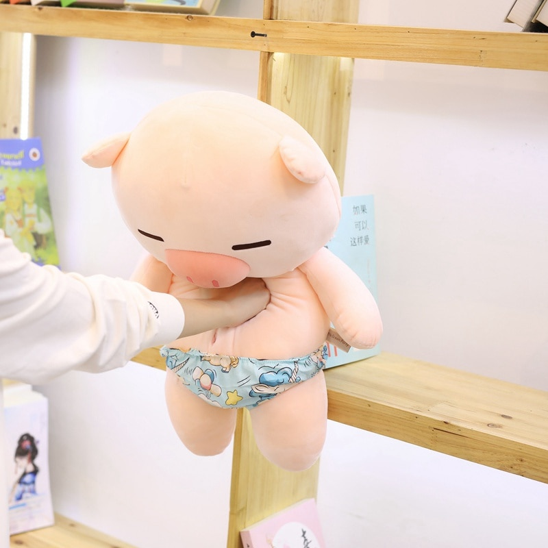 Scampish Piggy Plush Toys Cute Pig Stuffed Cartoon Animal Doll Soft Nap Pillow Sofa Cushion Kids Girlfriends Birthday Best Gifts  - buy with discount