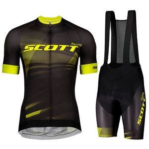 2021 Summer New Men's SCOTT Racing Short-sleeved Mountain Bike Breathable Cycling Suit