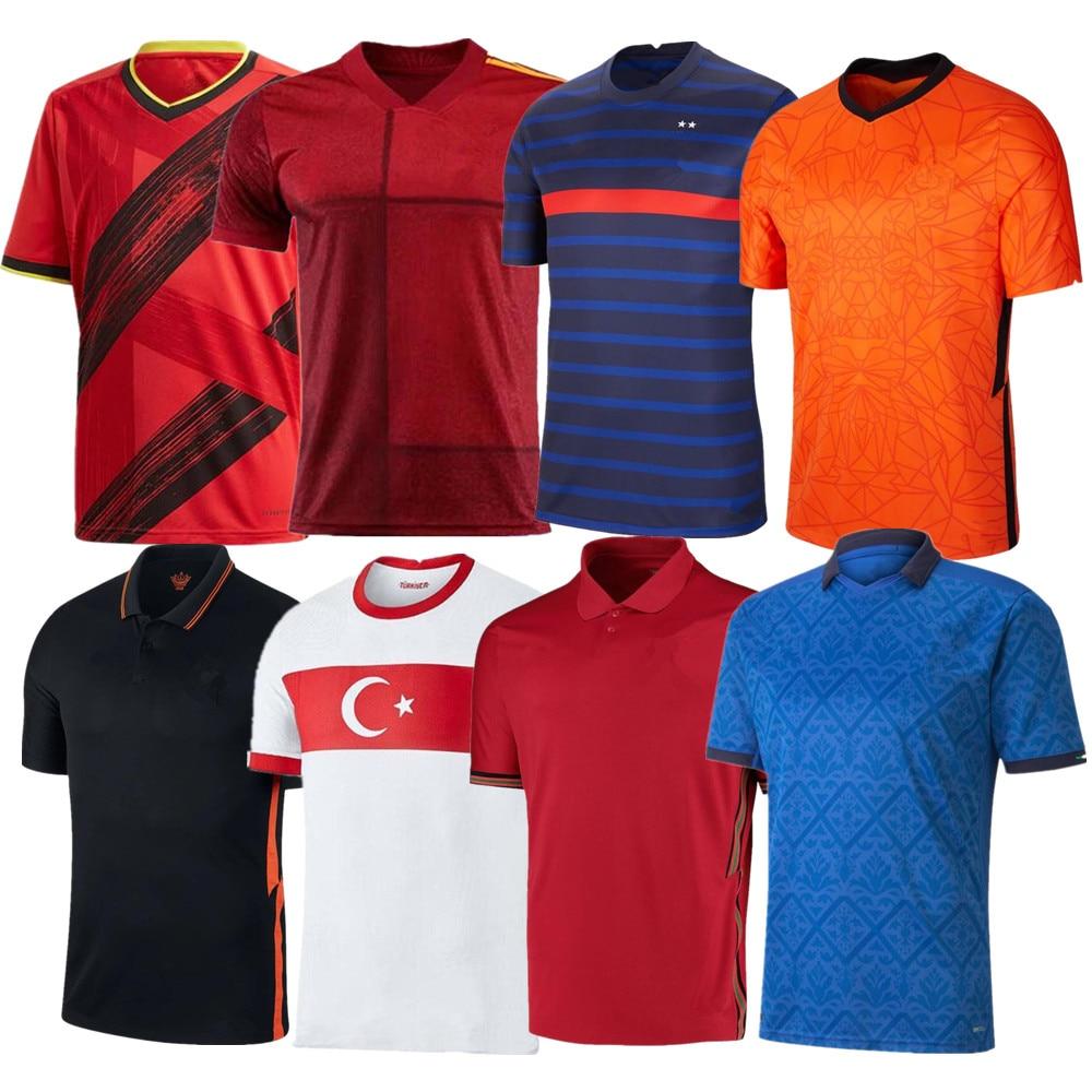 men 20/21 Netherlands football shirts France maillot de foot Tshirt 2021 Spain camiseta de fútbol Portugal Italy camisas futebol