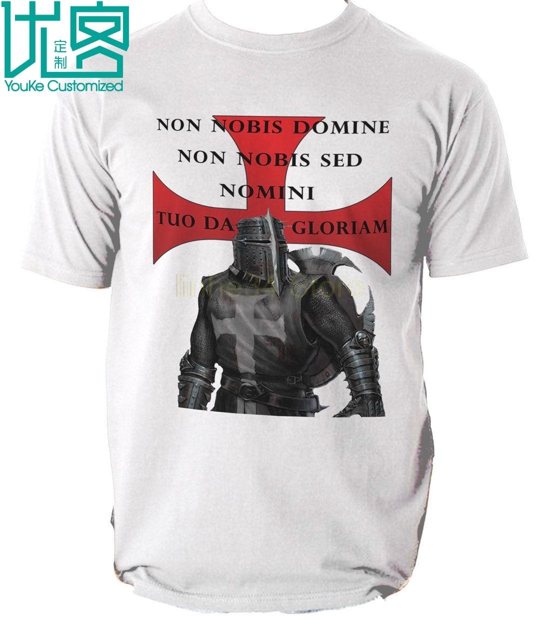 Templarios T camisa caballeros nuevo Caballero Teutónico cruzado Camiseta de algodón