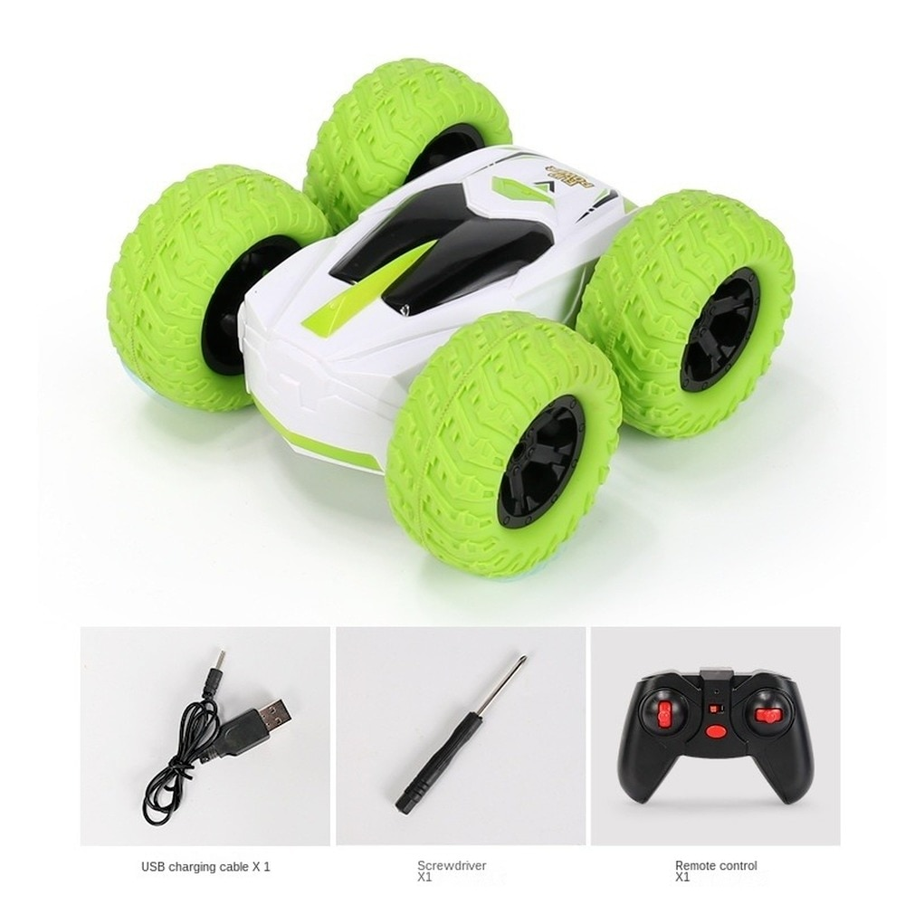 1:24 RC Car  360° Degree Rolling Double-sided Stunt Car Four-channel Drift Remote Control Vehicle Model Toy for Children