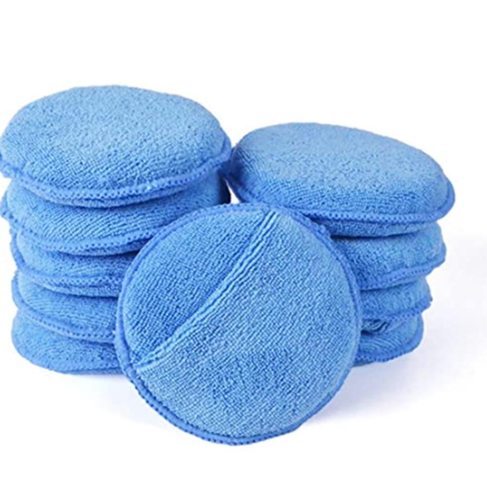 10pcs Soft Microfiber Car Wax Applicator Pad Polishing Sponge for apply and remove wax