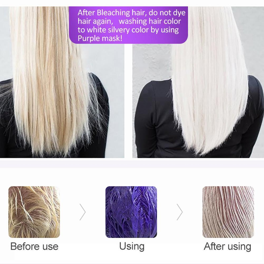 AliExpress - No Yellow Shampoo Purple Shampoo Toner Remove Yellow Anti Color Color Lock For Silver Blonde Bleached Brassy Protecting Gra Y0M6