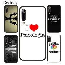 Krajews Awesome Psycholoog Beroep Psychologie Telefoon Case Cover Voor Huawei P20 P30 P40 Mate 20 30 40 Pro Lite P smart 2020 Z