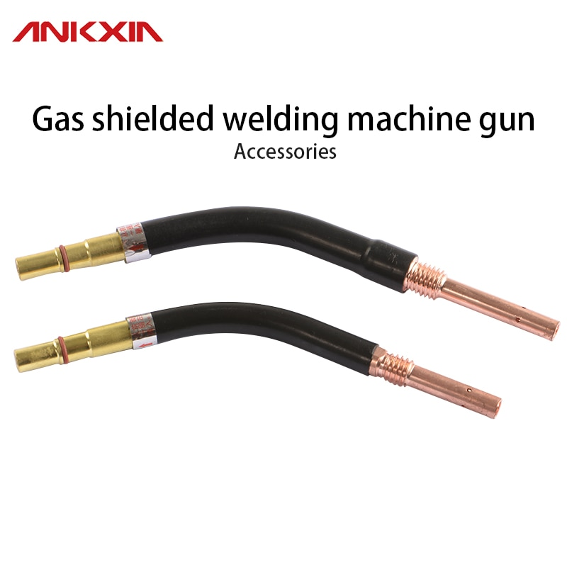 CO2 Mig Mag Welder Welding Torch 350A 500A Swan Neck Contact Tip Holder Gas Nozzle M6*45MM 350a 500a gas welding gun shunt connecting rod insulation cover bent pipe nozzle gas welding gun accessories welder gun parts