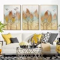 Les Feuilles dune Petite Plante Rafraichissante Toile Art Peintures Salon Chambre Impressions Mur Affiche Decor A La Maison  20-12-06-24