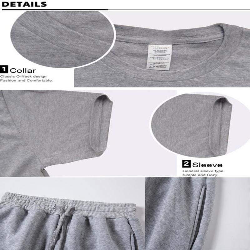 Summer Two Piece Set Anime Attack On Titan cotton men's T-shirt Sports Shorts Streetwear Harajuku pantsuit Sets Sweatpants