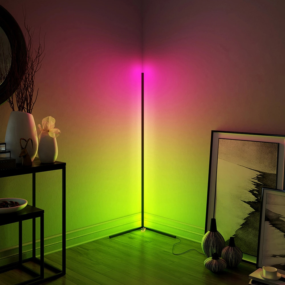 STINYTECH RGB Dimming Floor Lamp Nordic Colorful LED Floor Standing Simple Corner Lamp Lighting Lights For Living Room Bedroom