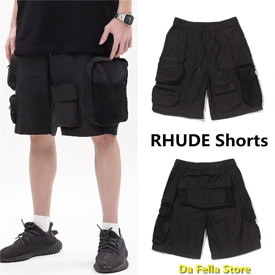 Rhude shorts 2020 homens mulher multifuncional bolsos rhude shorts ao ar livre streetwear oversize macacão de alta qualidade estereoscópico